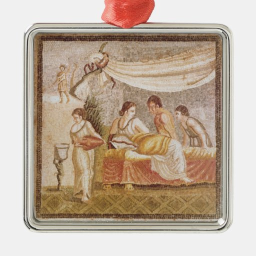 The Centocelle Mosaic Square Metal Christmas Ornament