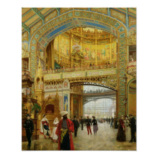 The Central Dome of the Universal Exhibition Poster