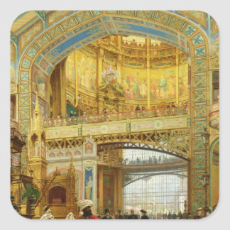 The Central Dome of the Universal Exhibition Square Sticker