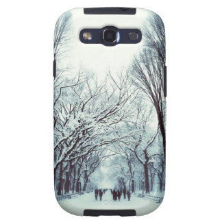 The Central Park Mall In Winter Galaxy S3 Cases