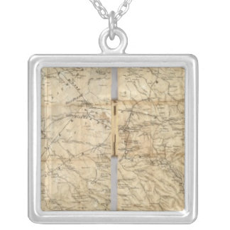 The Central Part of the State of California Silver Plated Necklace