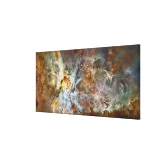 The central region of the Carina Nebula Canvas Print