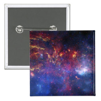 The central region of the Milky Way galaxy 2 Inch Square Button