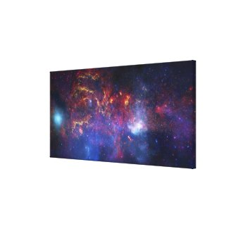 The central region of the Milky Way galaxy Canvas Print