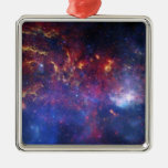 The central region of the Milky Way galaxy Metal Ornament