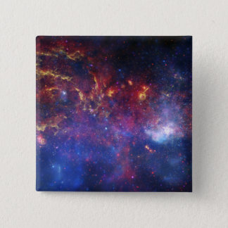 The central region of the Milky Way galaxy Pinback Button