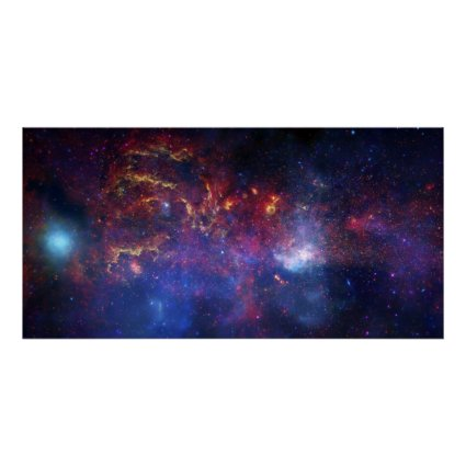 The central region of the Milky Way galaxy Poster