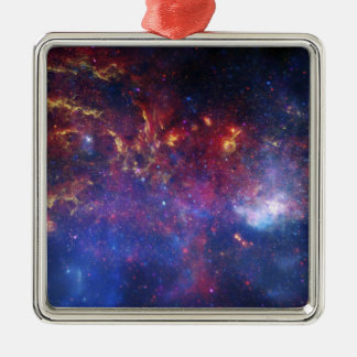 The central region of the Milky Way galaxy Square Metal Christmas Ornament