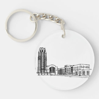 the Central Terminal Double-Sided Round Acrylic Keychain