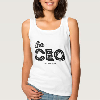 The CEO Rustic Retro Typography Personalized Shirt