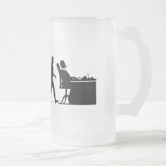 The CEO VP company President Boss Mens Work Frosted Glass Beer Mug