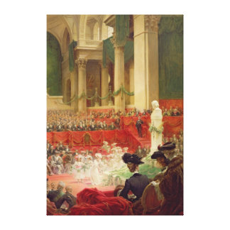 The Ceremony at the Pantheon Canvas Print