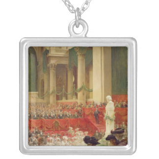 The Ceremony at the Pantheon Silver Plated Necklace