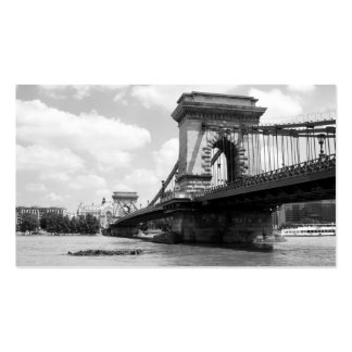The Chain Bridge in Budapest, Hungary Business Card Template