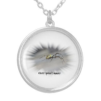 The chain for spiders fans silver plated necklace