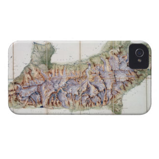 The Chain of Mont Blanc, from an actual survey in iPhone 4 Case-Mate Cases
