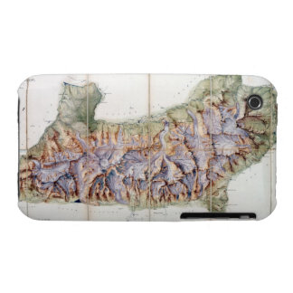 The Chain of Mont Blanc, from an actual survey in Case-Mate iPhone 3 Case