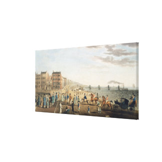 The Chain Pier at Brighton with Characters (etchin Canvas Print