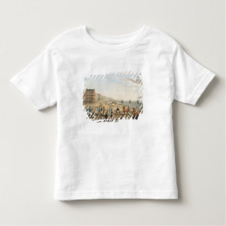 The Chain Pier at Brighton with Characters (etchin Toddler T-shirt