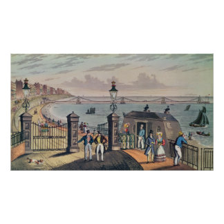 The Chain Pier on the front at Brighton Poster