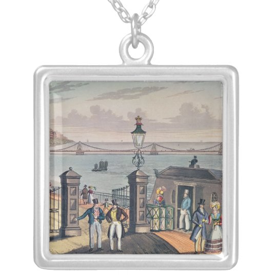 The Chain Pier on the front at Brighton Silver Plated Necklace