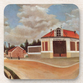 The chair factory at Alfortville by Henri Rousseau Coaster