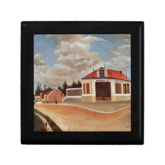 The chair factory at Alfortville by Henri Rousseau Jewelry Box
