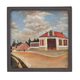The chair factory at Alfortville by Henri Rousseau Keepsake Box