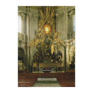 The chair of St. Peter, 1665 Canvas Print