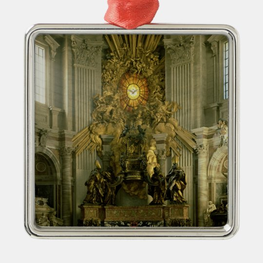 The chair of St. Peter, 1665 Metal Ornament