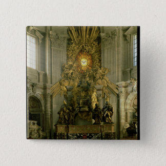 The chair of St. Peter, 1665 Pinback Button
