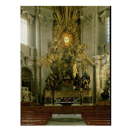 The chair of St. Peter, 1665 Post Card