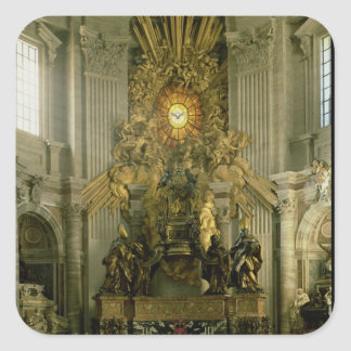The chair of St. Peter, 1665 Square Sticker