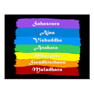 The Chakra Rainbow Postcard