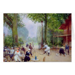 The Chalet du Cycle in the Bois de Boulogne Greeting Cards
