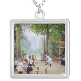 The Chalet du Cycle in the Bois de Boulogne Silver Plated Necklace