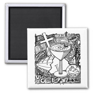 'The Chalice' 2 Inch Square Magnet