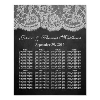 The Chalkboard & Lace Wedding Collection Poster