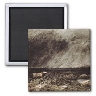 The Challenge on the Moors, near Bettws-y-Coed, No 2 Inch Square Magnet
