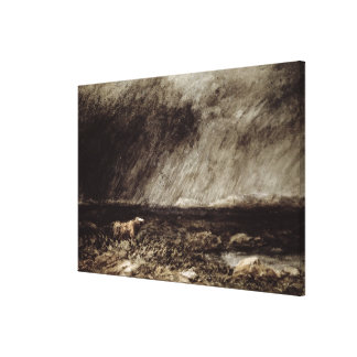 The Challenge on the Moors, near Bettws-y-Coed, No Canvas Print