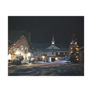 The Challenger Inn and Porte Cochere at Night Gallery Wrapped Canvas