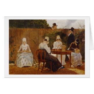 The Chalon Family in their London Town Garden, ear Card