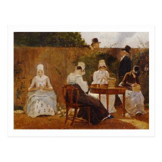 The Chalon Family in their London Town Garden, ear Postcard
