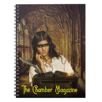 The Chamber Magazine Girl at Desk Notebook
