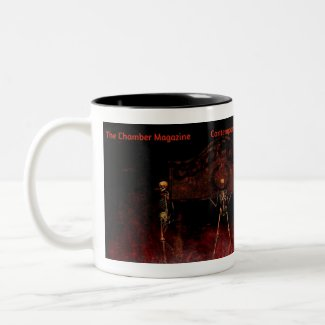 The Chamber Magazine Skeletons Two-Tone Coffee Mug
