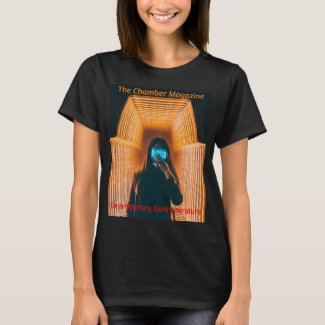 The Chamber Magazine Woman in orange tunnel T-Shirt