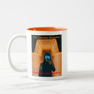 The Chamber Magazine Woman in orange Two-Tone Coffee Mug