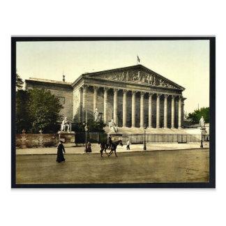 The Chamber of Deputies, Paris, France vintage Pho Postcard