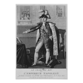 The 'Champ de Mai' or Emperor Napoleon I Poster