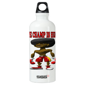 The Champ Is Here 2 Water Bottle